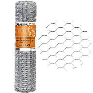 Tela Hexagonal Viveiro Tocha 1,0 x 50 Metros 26 mm