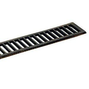 Grelha Reta Donifer Ferro Fundido 15x100cm