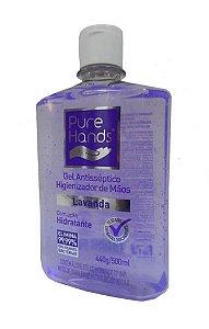 Álcool Gel 70% Pure Hands Antisséptico e Higienizador 500ml Kit com 12 Unidades