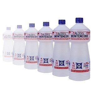 Álcool 70% Montenegro Antisséptico e Higienizador 01 Litro Caixa com 12 Unidades