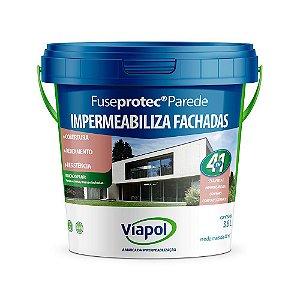 Impermeabilizante Viapol Fuseprotec para Parede Branco Galão com 3,6 Litros