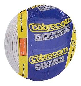 Fio Flexível Cobrecom 1,5mm 450/750v Branco Rolo com 100 Metros