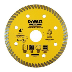 Disco DeWalt Diamantado para Porcelanato Ultra Fino 105 mm