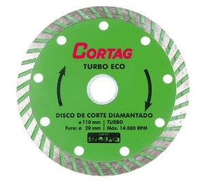 Disco de Corte Cortag Diamantado Turbo Eco 110 x 20 mm