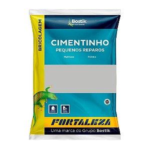 Cimento Fortaleza Bostik Comum Cinza Pacote com 20 Sacos 01 kg Cada