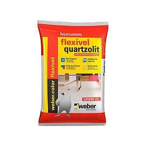Rejunte Flexível Quartzolit Palha 15 Sacos com 01 Kg Cada