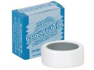 Fita Veda Rosca Polyfita 12mm x 25m Caixa com 60 Unidades