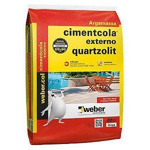 Argamassa Quartzolit para Pisos e Revestimentos tipo ACII uso Externo Pacote com 20 Kg