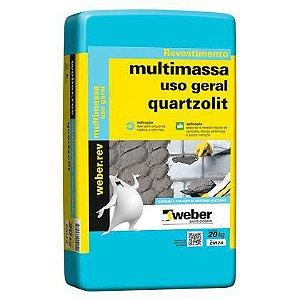Argamassa Quartzolit Multimassa Cinza para uso Geral Pacote com 20 kg