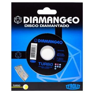 Disco Tyrolit Diamantado Diamangeo Turbo 110 x 20 mm