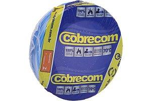 Fio Flexível Cobrecom 4,00mm 450/750v Azul Rolo com 100 Metros