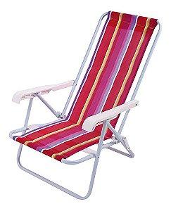 Cadeira De Praia Mor em Aço 04 Posições