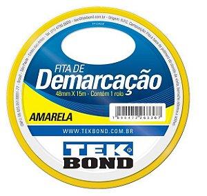 Fita para Demarcação Tek Bond Amarela 48mmx15m