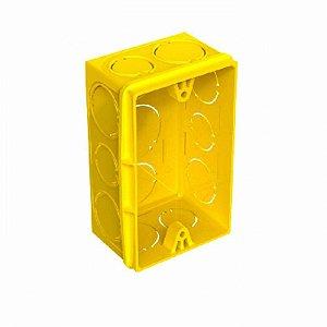Caixa de Luz Roma 4X2 Retangular Amarela Com 24 Unidades