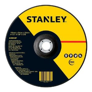 Disco Abrasivo de Desbaste Stanley 115 x 6 x 22mm STA0413