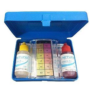 Kit Teste Cloro E Ph Netuno para Água de Piscina com Medidor De Ph