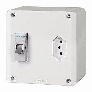 Caixa Multiuso Eletromar Interna com Disjuntor de 25A e Tomada de 20A