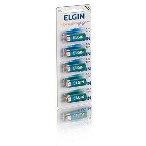 Bateria Alcalina Elgin A23 Cartela com 5 Unidades