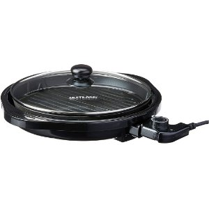 Panela Grill Multilaser Gourmet Preta Antiaderente 1200W/127V