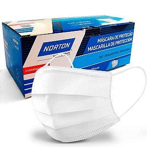 Máscara de Proteção Norton de TNT com Elastico Branca 175 x 95mm Caixa com 10 Unidades