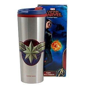 Copo de Viagem Capitã Marvel