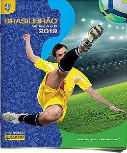 Álbum Brasileirão Séries A e B 2019 + 60 figurinhas (Capa Dura)