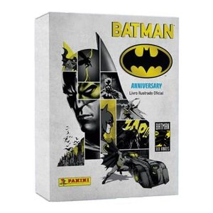 Kit Batman 80 anos: Àlbum Capa dura + Livro Batman 66 + Figurinhas completa