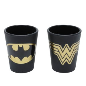 Copo Shot Golden : Batman e Mulher-Maravilha