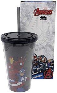 Copo Canudo Avengers
