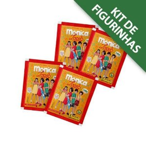 Kit de Figurinhas Turma da Mônica Laços - Contém 12 envelopes - 48 cromos com 12 Cards