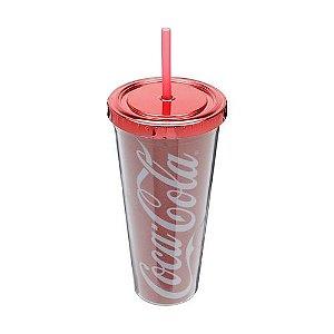Copo Com Canudo Coca-Cola Classic