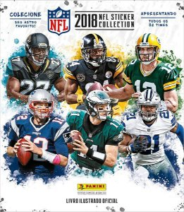 NFL 2018: Kit livro ilustrado+60 figurinhas