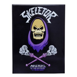 Placa Urban metal Mou Skeletor Cap 26X20X1Cm Roxa