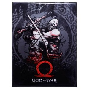 Placa Metal Decorativa - God of War