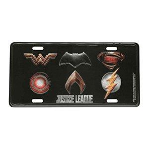Placa De Carro Decorativa Alumínio Liga Da Justiça