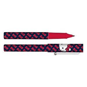 Caneta Esferográfica Hello Kitty Laços - Vermelha