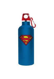 Garrafa Em Alumínio Dc Superman Logo Azul