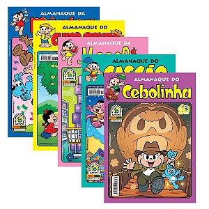 Kit 5 Gibis - Almanaques Turma da Mônica