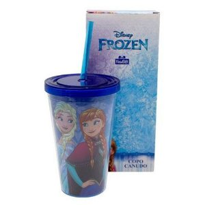 Copo Canudo Frozen 500 ml