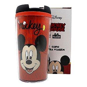 Copo Viagem Mickey Disney Com Tampa 250ml