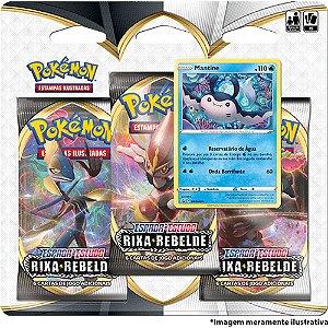 Blister Triplo Mantine Pokémon - Espada e Escudo 2 - Rixa Rebelde