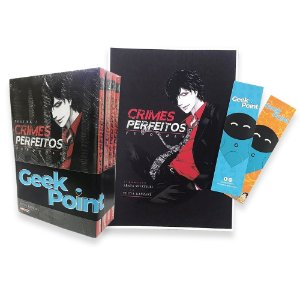 Kit Crimes Perfeitos Vol. 1 a 4 + Poster e 2 Marca Pagina