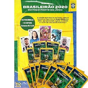 Cartão A4 + 30 Figurinhas - Brasileirão 2020