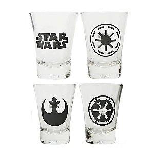 Conjunto Kit Shots Star Wars - 4 Copos