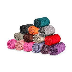 Manta cobertor Canelada Soft Riscado 2,00 x 1,80m
