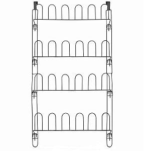 Sapateiras de Porta ou Parede Aço Preto 24 Divisórias