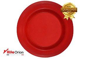 Pratos De Plástico Redondo Vermelho Duro 24 Cm