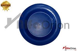 Pratos De Plástico Redondo Azul Duro 24 Cm
