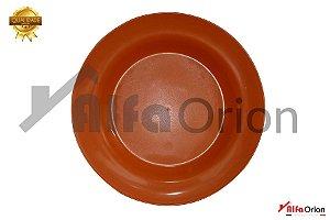 Pratos De Plástico Redondo  Laranja Duro 24 Cm