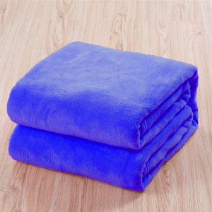 Manta Microfibra Lisa  Casal Azul Royal